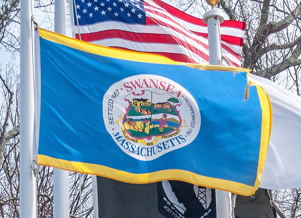 Flag of Swansea, Massachusetts