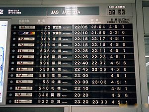 Flight information display system - Split flap display at Tokyo International Airport