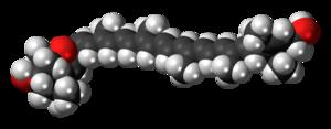 Flavoxanthin - Image: Flavoxanthin 3D spacefill