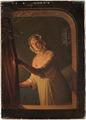 Flicka vid ljussken (Johan Gustaf Sandberg) - Nationalmuseum - 132623.tif