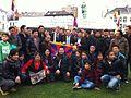 Flickr - Convergència Democràtica de Catalunya - Ramon Tremosa, amb un grup de tibetants que fan 5 dies de vaga de fam en contra de l'ocupació xinesa del seu país, a Brussel·les 9-11-2011.jpg