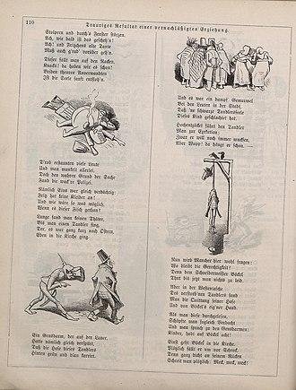 Fliegende Blätter - Page from 1860, illustrated by Wilhelm Busch