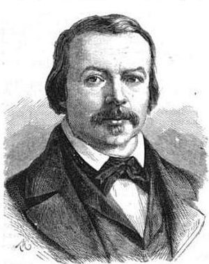 Ferdinand Flocon - Portrait from the Histoire populaire contemporaine de la France (1865)