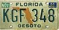 Florida 1986 license plate - KGF 348.jpg