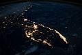 Florida Peninsula at night, 13 October 2014 (ISS041-E-74232).JPG