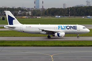 FlyOne - Fly One Airbus A320 at Pulkovo Airport
