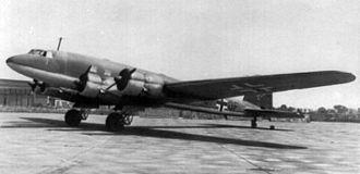 Focke-Wulf Fw 200 Condor - A former Fw 200 A airliner used as a Luftwaffe transport.