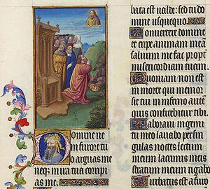 Psalm 6 - Image: Folio 65r Psalm VI