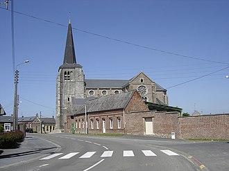 Fontaine-au-Pire - Image: Fontaine au Pire church