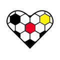 Football Heart Soccer Fußball Fussball Herz - Version Deutschland Germany Schwarz Rot Gold small. Clemens Ratte-Polle.png