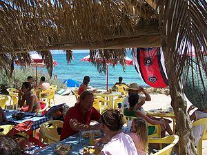 Chiringuito - A chiringuito in Formentera.