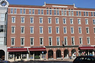 Concord, New Hampshire - Across from the state capitol, the former Eagle Hotel on Main Street, was a downtown landmark in Concord from its opening in 1827 until it closed in 1961. It was added in 1978 to the National Register of Historic Places.