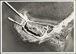 Fort Duvall - Fort Duvall after casemating in World War II.