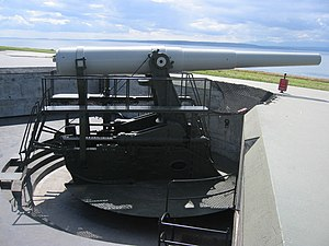 10-inch gun M1895 - 10-inch gun M1895MI on disappearing carriage M1901, Fort Casey, Whidbey Island, Washington