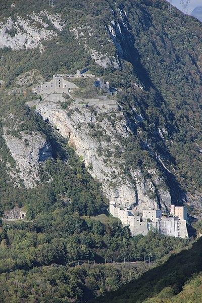 Fort de l'Ecluse from the Rocher de Léaz