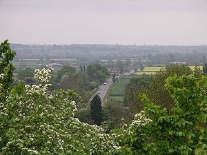 Fosse Way - Fosse Way from the top of Brinklow Castle, Warwickshire