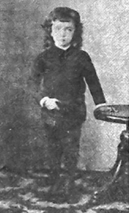 Fotografía de F. L. A.-C. hecha a los 5-6 años de edad en su Orense natal