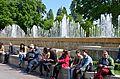 Fountains, Hotel de Ville, Paris May 2014.jpg