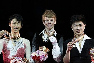 Kevin Reynolds (figure skater) - Kevin Reynolds at the 2013 Four Continents Championships podium