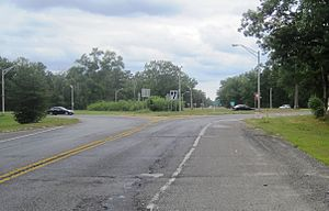 Four Mile Circle - Circle as seen from westbound Route 70