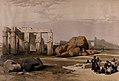 Fragments of the large statues of Memnon at the Memnonium, E Wellcome V0049327.jpg
