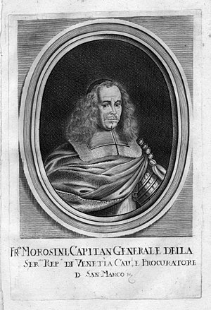 Francesco Morosini - Engraving showing Morosini as Captain General.