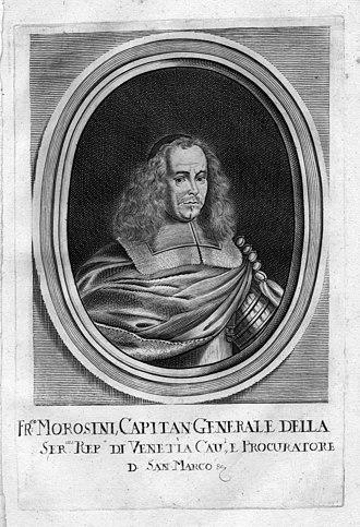 Francesco Morosini - Engraving showing Morosini as Captain General.