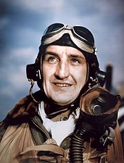 "P-47 pilot Lt. Col. Francis S. ""Gabby"" Gabreski, 56th Fighter Group, leading ace of the 8th Air Force."