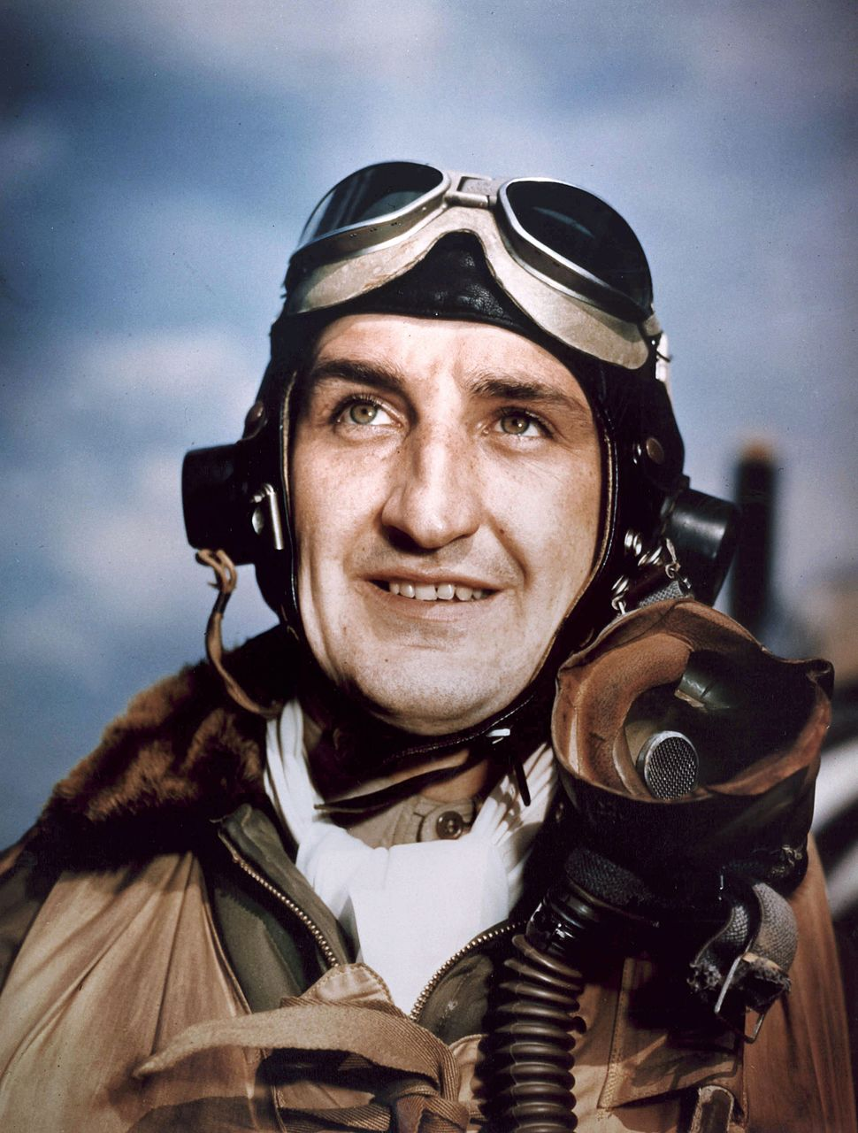 Francis Gabreski color photo in pilot suit