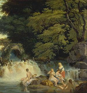 Francis Wheatley (painter) - Image: Francis Wheatley The Salmon Leap, Leixlip Google Art Project