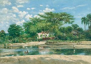 Parque de la Ceiba - Francisco Oller's 1888 depiction of La ceiba de Ponce at Museo de Arte de Ponce