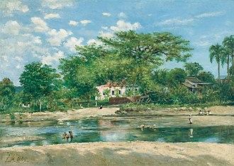 Parque de la Ceiba - Francisco Oller's 1888 depiction of La ceiba de Ponce at Museo de Arte de Ponce