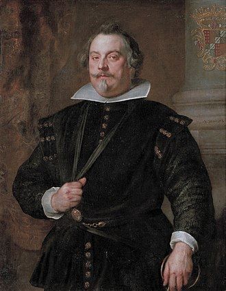 Francisco de Moncada, 3rd Marquis of Aitona - Francisco de Moncada, 3rd Marquis of Aitona, (1586 - 1653), Count of Ossona. Painting by Anthony van Dyck while Francisco de Moncada was interim Governor in the Spanish Netherlands. Kept at the Kunsthistorisches Museum,  Vienna, Austria