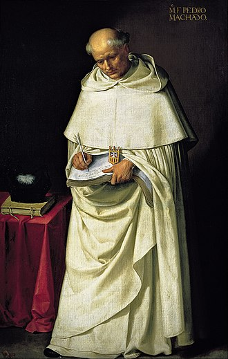 Religious order - Francisco de Zurbarán's painting of a Mercedarian Friar, Fra Pedro Machado