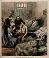 Franco-Prussian War; a nurse treating wounded servians in an Wellcome V0015467.jpg