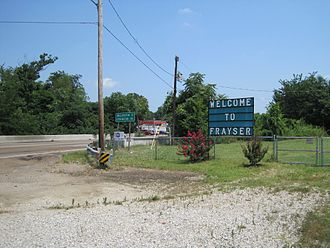 Frayser, Memphis - Welcome to Frayser sign