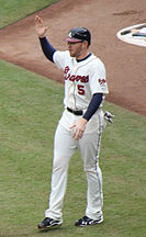 Freddie Freeman wearing the first alternate home uniform