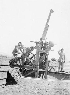 Canon de 75 antiaérien mle 1913-1917 - Image: French 75 mm AA gun Salonika 1917 IWM HU 091353