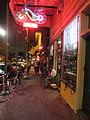Frenchmen St Night Sidewalk Typist.JPG