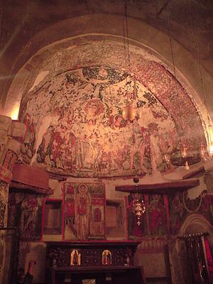 Syrian Monastery, Egypt - Frescos from the Syrian monastery of Wadi Natrun.