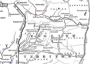 Attack on German Flatts (1778) - Image: Frontier of NY in Revolution German Flatts Attack