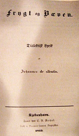 Fear and Trembling - First edition title page