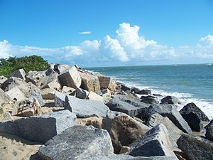 Fort Pierce Inlet State Park - Image: Ft Pierce FL Fort Pierce Inlet SP rocks 04