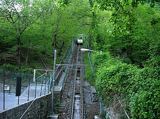Montevergine funicular - The funicular in operation