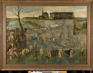IJsvermaak voor de St.Jorispoort van Antwerpen