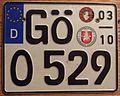GERMANY, GOTTINGEN -SEASONAL MOTORCYCLE PLATE, with GERMAN LETTER - Flickr - woody1778a.jpg