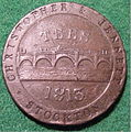 GREAT BRITAIN, STOCKTON 1813 - CHRISTOPHER and JENNETT PENNY TOKEN 1813 a - Flickr - woody1778a.jpg