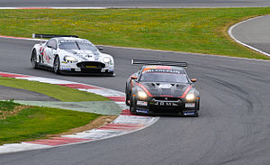 GT-R and DBR9 on track.jpg