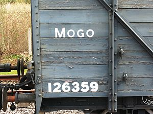 Great Western Railway telegraphic codes - A telegraphic code painted on a Mogo (Motor car goods van)