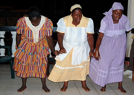 Traditional Garifuna dancers in Dangriga, Belize Garifuna dancers in Dangriga, Belize.jpg
